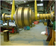 F/7EA Turbine Rotor Overhaul On-Site